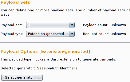 SessionAuth as Payload Generator in Intruder